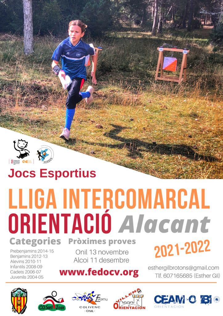 Liga Escolar Intercomarcal de Orientación de Alicante 2021/2022